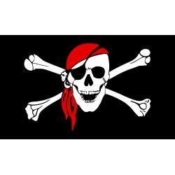 Pirátská vlajka červený šátek